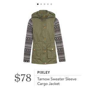 Sweater Sleeve Cargo Jacket